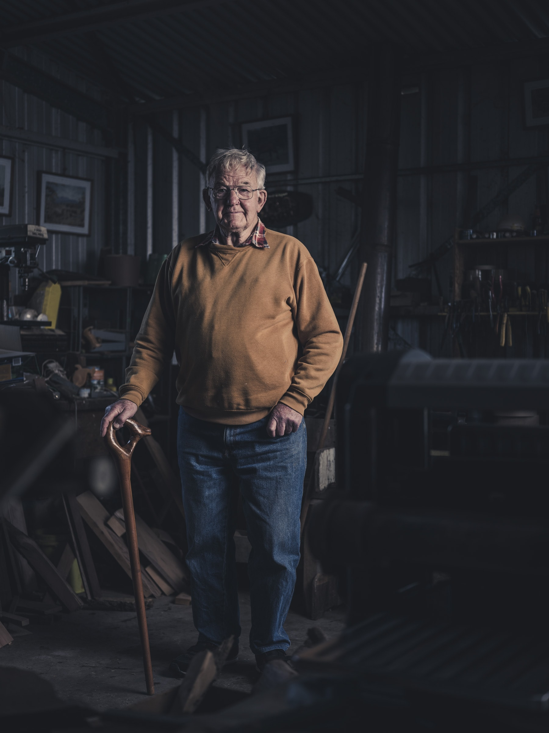 Portrait photography of a woodworker