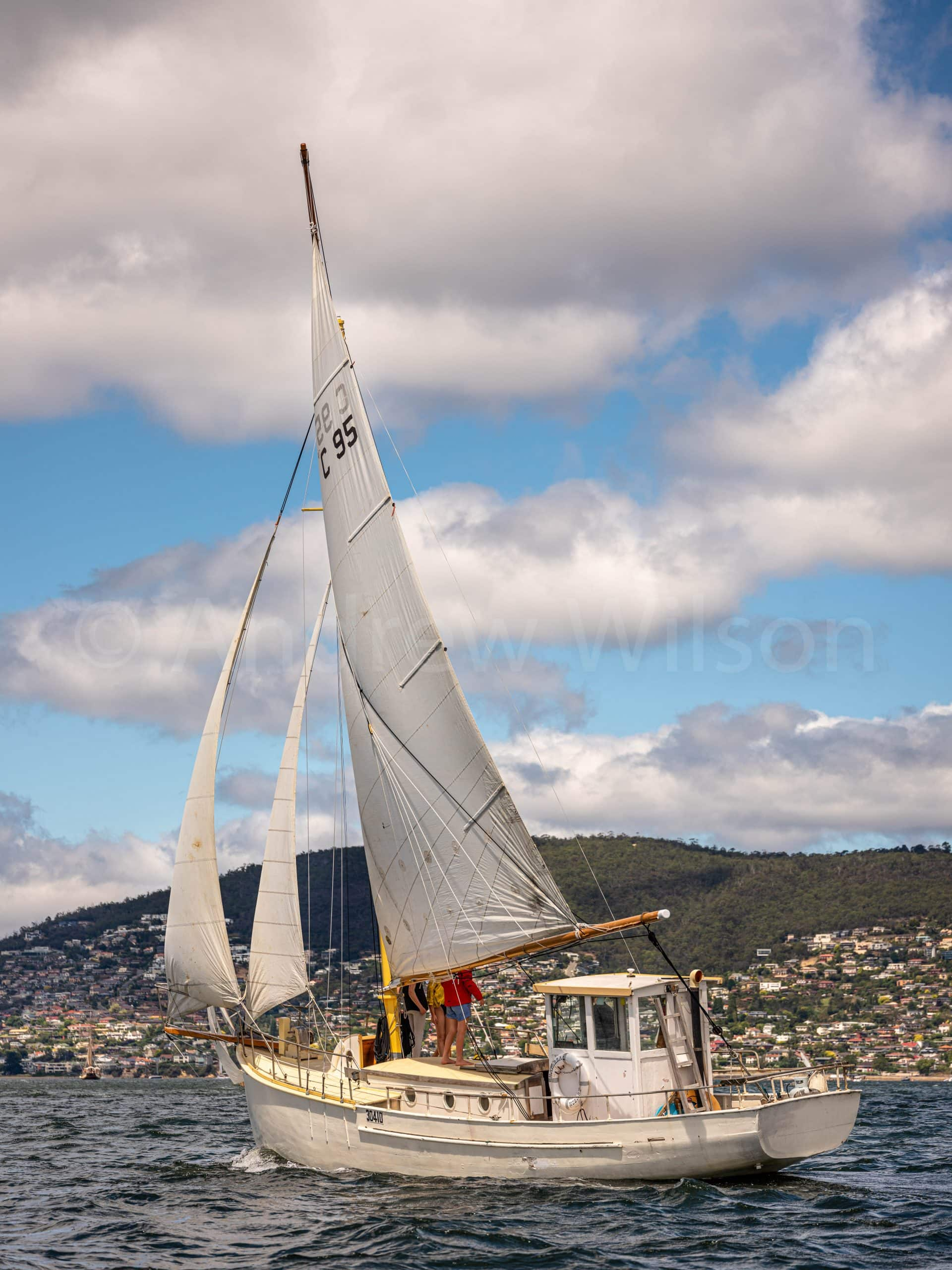 Australian Wooden Boat Festival, Chaparral, Parade of Sail
